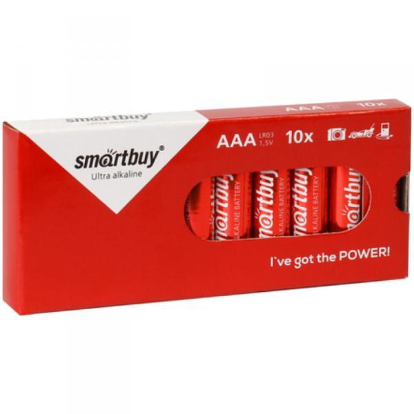 Батарейка SmartBuy AAA (LR03) 10 картон.уп.