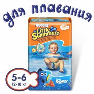 Фото  Трусики-подгузники для плаванья Huggies Little Swimmers 5-6 (12-18 кг) 11 шт.