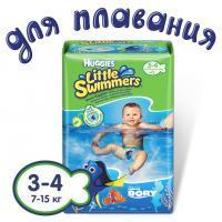 Трусики-подгузники для плаванья Huggies Little Swimmers 3-4 (7-14 кг) 12 шт.