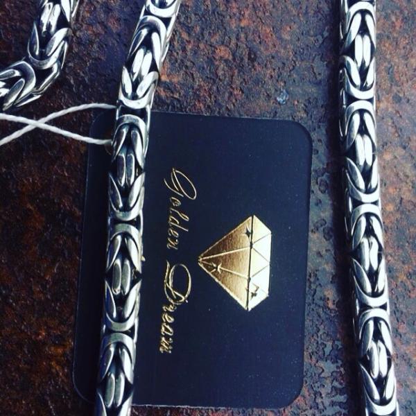 Фото Цепочки и браслеты ручного плетения Византийское плетение серебро 925