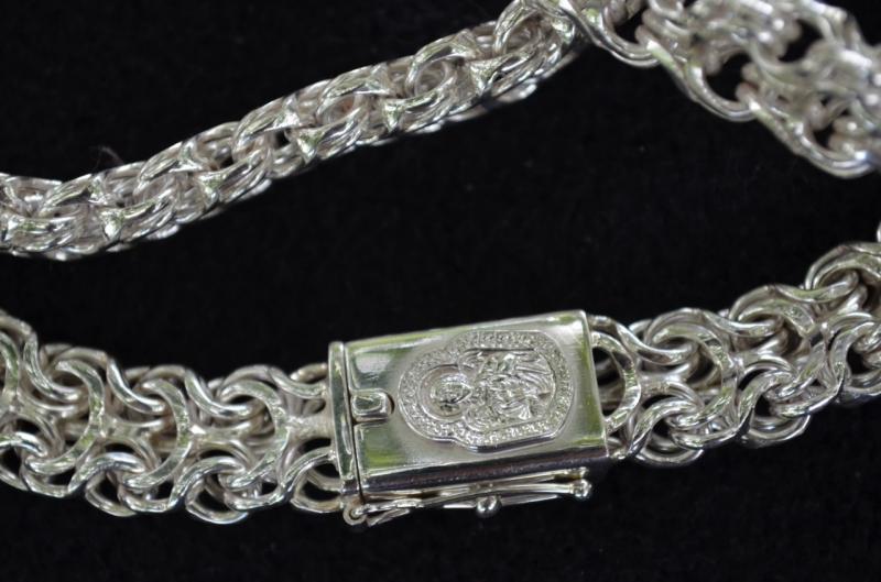 Фото Цепочки и браслеты ручного плетения  Браслет Рамзес серебро 925