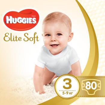 Подгузники Huggies Elite Soft 3 (5-9 кг) 80 шт.