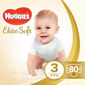 Фото Хаггис Элит Софт - Huggies Elite Soft  Подгузники Huggies Elite Soft 3 (5-9 кг) 80 шт.