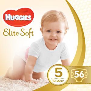 Фото Хаггис Элит Софт - Huggies Elite Soft  Подгузники Huggies Elite Soft 5 (12-22 кг) 56 шт