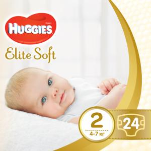 Фото Хаггис Элит Софт - Huggies Elite Soft  Подгузник Huggies Elite Soft 2(4-7кг) 24 штуки