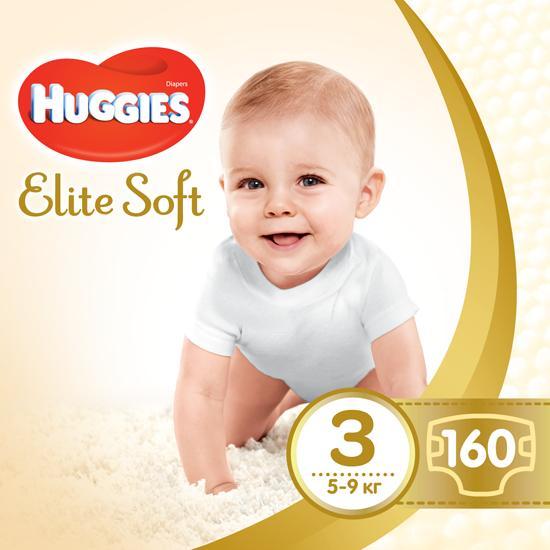 Подгузники Huggies Elite Soft 3 (5-9 кг)160 шт.