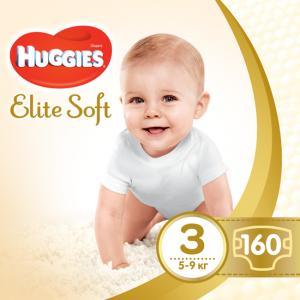 Фото Хаггис Элит Софт - Huggies Elite Soft  Подгузники Huggies Elite Soft 3 (5-9 кг)160 шт.
