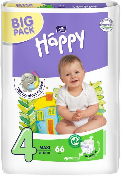 Підгузники для дітей Хеппи 4  66 шт.