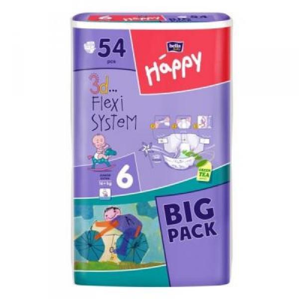 Підгузники для дітей Хеппі 6 54 шт.