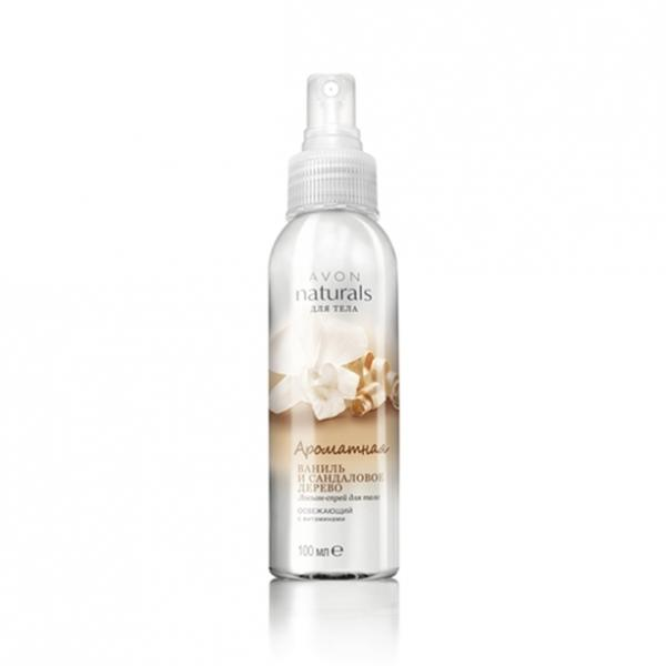 Лосьон-спрей для тела «Ароматная ваниль и сандаловое дерево» (100 мл)