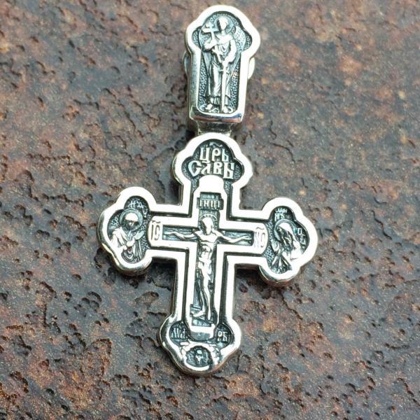 Крест Распятие Христово серебро 925