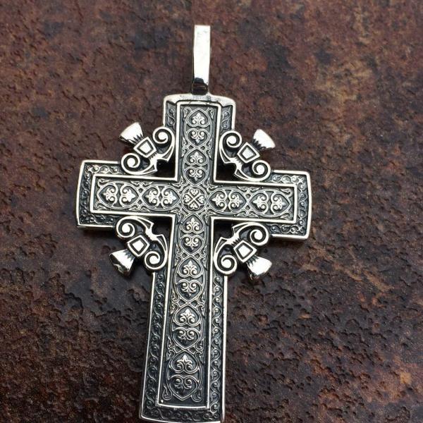 Фото Нет в наличии, Голгофский Крест серебро 925 Голгофский Крест серебро 925
