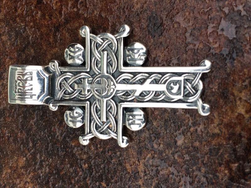 Голгофский Крест серебро 925