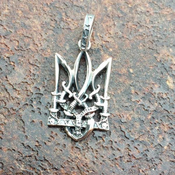 Фото Нет в наличии, Тризуб серебро 925 Тризуб серебро 925