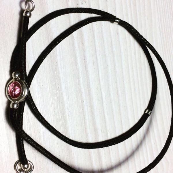 Браслет шнур со вставками серебро 925