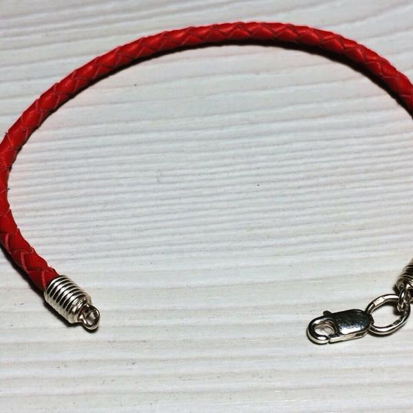 Браслет кожаный шнур со вставками