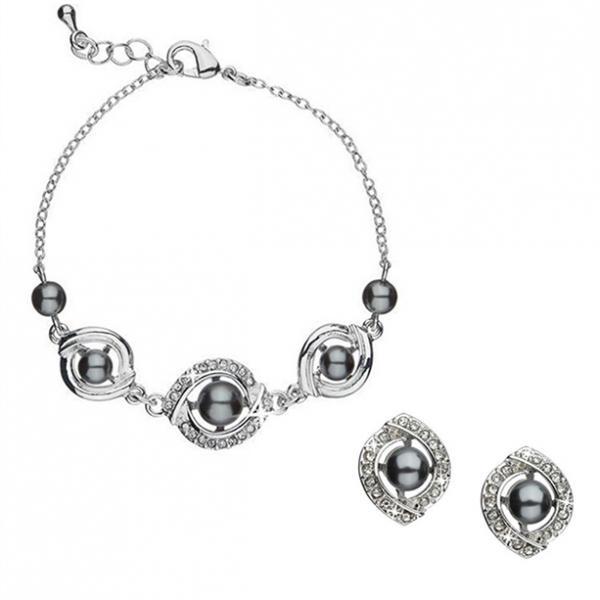 Набор украшений «Есения»: браслет (1 шт.), серьги (1 пара), сменные оправы (1 пара)