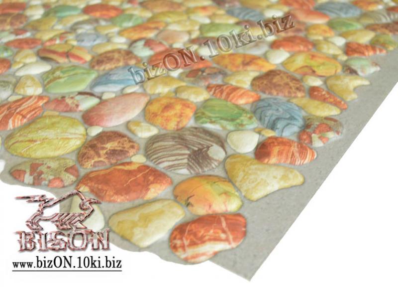 Фото Листовые панели ПВХ Камень «ГАЛЬКА КОРИЧНЕВАЯ»   Листовые панели ПВХ