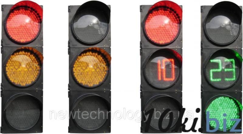 Светофор Т1.1.ТОВ транспортный трехсекционный 200 мм c таблом отсчета времени в желтой секции Светофоры в Украине