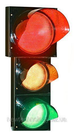 Светофор Т1.2 транспортный красный 300 мм, желтый и зеленый по200 мм c таблом отсчета времени в желтой секции
