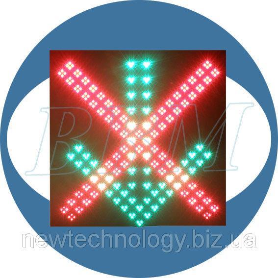 Светофор Т4 реверсивный односекционный 600 мм светодиодный