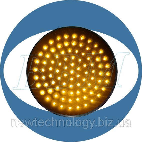 Фото 200 мм модули светофоров Модуль JD200-3-R светодиодный, 200 мм, красный с прозрачной линзой