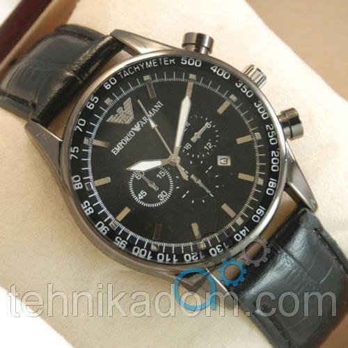 Часы Armani Black-Silver-Black