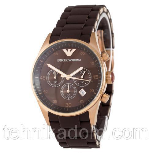 Часы Emporio Armani AAA Gold-Brown Silicone