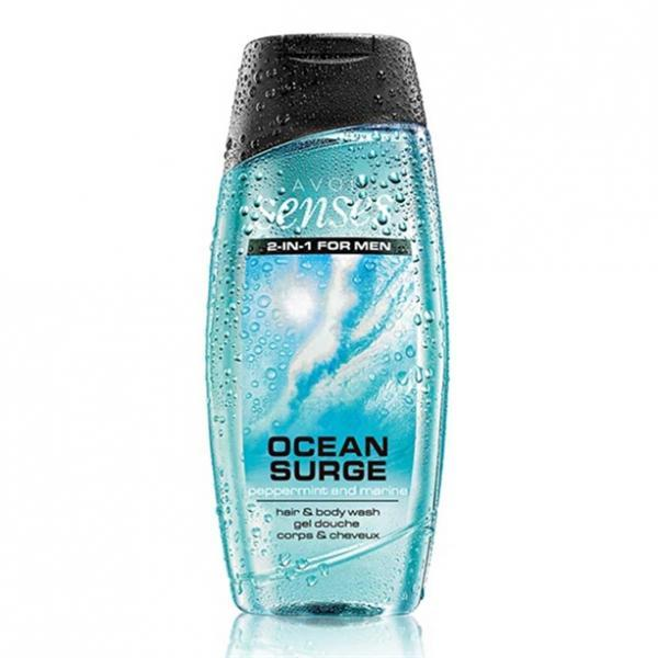 Шампунь-гель для душа для мужчин с дезодорирующим эффектом «Энергия океана» (500 мл)