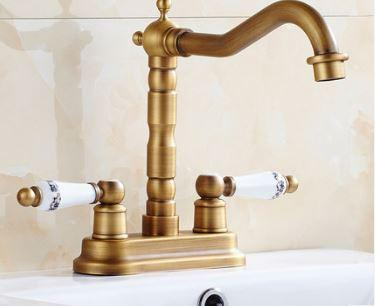 Смеситель кран бронза для кухни мойки раковины в ванную комнату