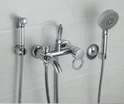 Гигиенический душ с лейкой смеситель кран для биде