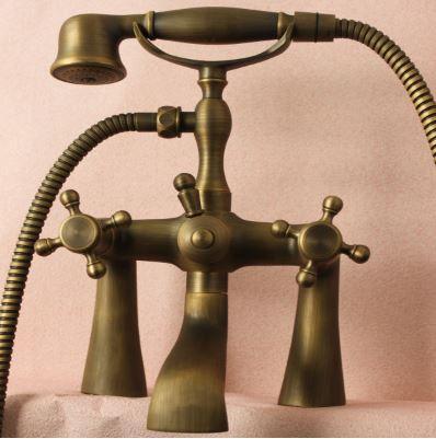 Смеситель кран с лейкой бронза для ванной 0171