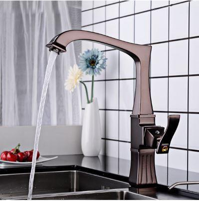 Смеситель кран однорычажный в ванную комнату или на кухню для мойки раковины
