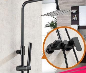 Стойка колона в ванную со смесителем и верхним душем 0227