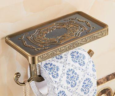 Держатель туалетной бумаги бумагодержатель бронза 0267