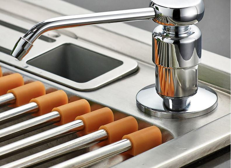 Дозатор жидкого мыла металлический кухонный для кафе ресторана супермаркета