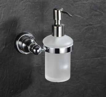 Дозатор для жидкого мыла настенный стекло с металом для магазина кафе ресторана супермаркета