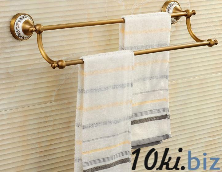 Вешалка для полотенец бронза двухуровневая для ванной или на кухню, цена фото купить в Киеве. Раздел Держатели для полотенец