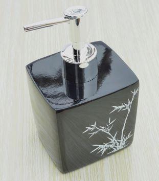 Дозатор для жидкого мыла дезинфицирующего средства черный для ванной ресторана