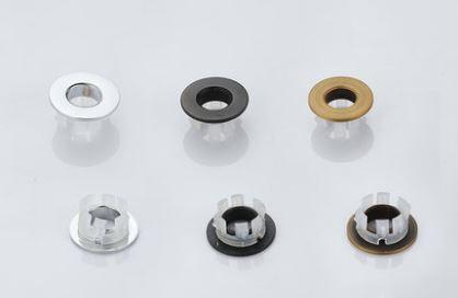 Кольцо для перелива умывальника бронза хром черное 0465