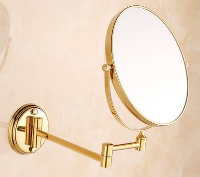 Зеркало косметическое настенное в золоте золото 0466