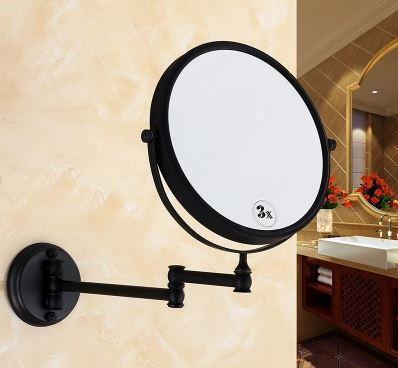 Зеркало косметическое настенное в бронзе 0467