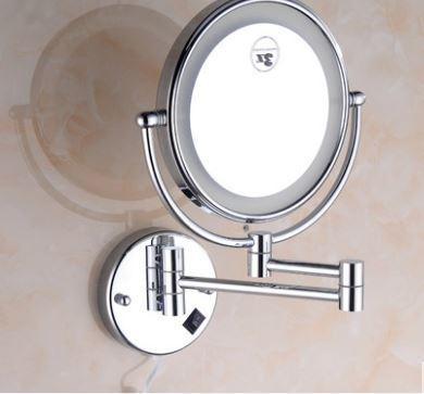 Зеркало подвесное с подсветкой в хроме 0469