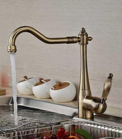 Смеситель на кухню кухонный для мойки бронзовый 0485