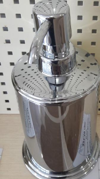 Дозатор диспенсер метал для жидкого мыла настольный квадратный 0525