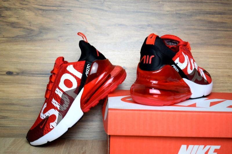 Фото  Nike Air Max 270 SUPREME Red (37-45)