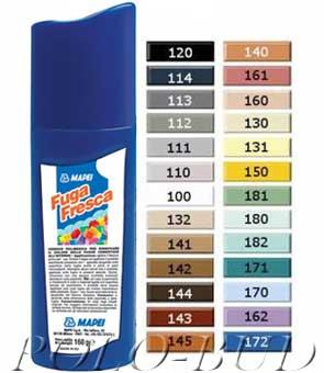 Fuga Fresca Mapei (Фуга Фреска Мапей) Полимерная краска для обновления цвета цементных шовных заполнителей, 0,16 кг