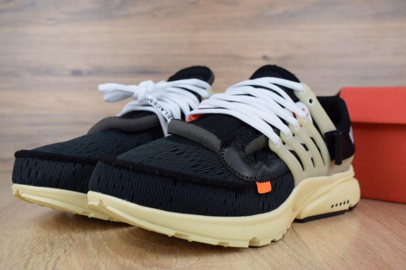 Фото СПОРТИВНАЯ ОБУВЬ Nike Air Presto Off-White Black Beige (41-45)