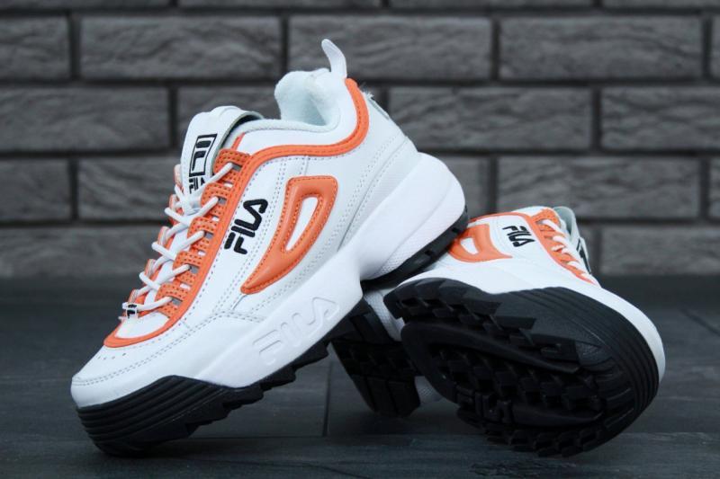 Фото  Fila Disruptor 2 White Orange (36-40)