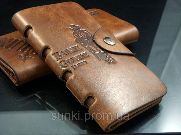 Кошелек мужской бумажник визитница Bailini длинный с ковбоем с вырезами
